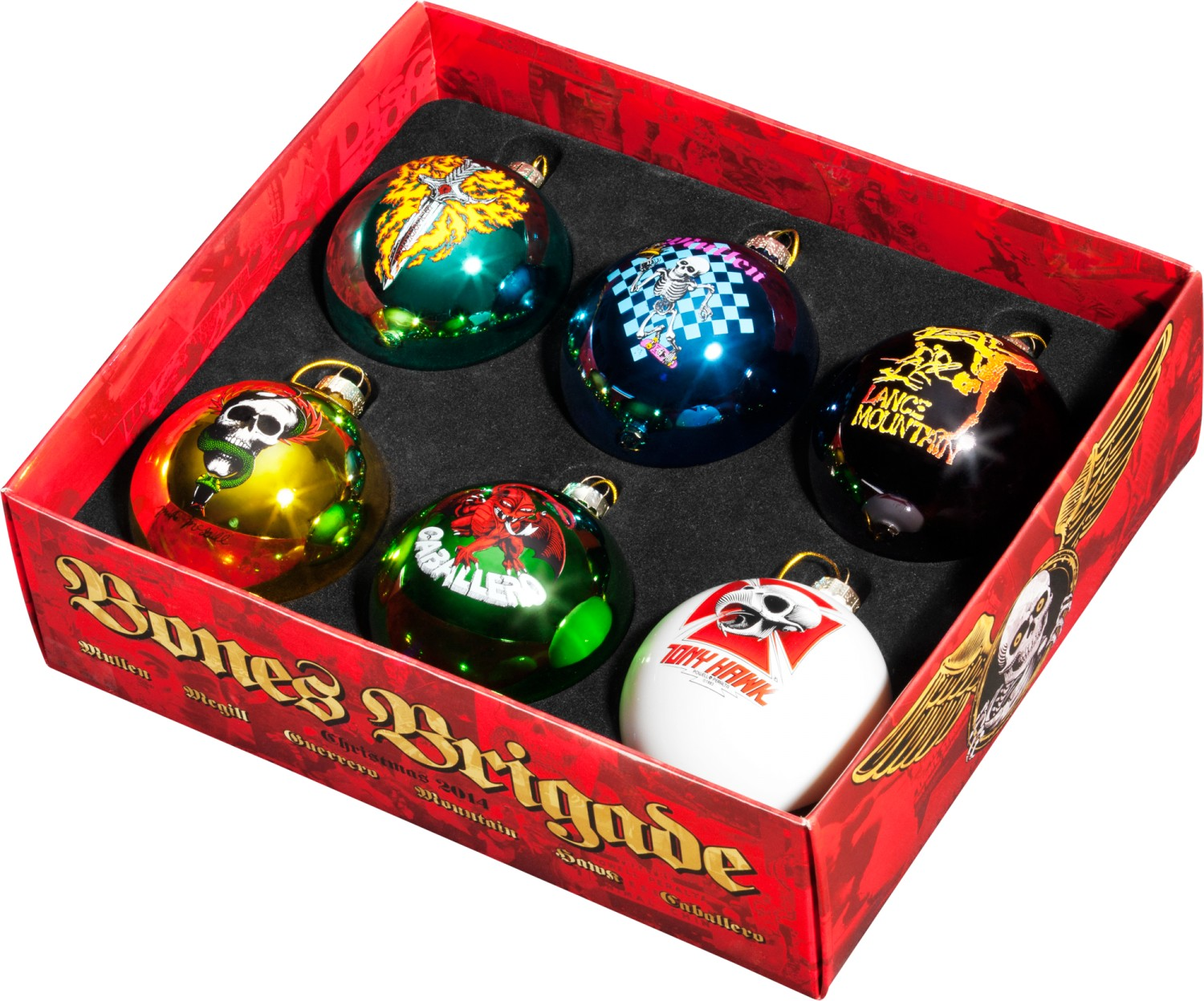 The Perfect Gift For That Old Skateboarder! The Bones Brigade Christmas  Ornaments (6 Pack